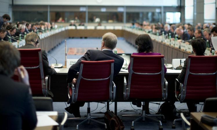 Inside a joint session of the OSCE Forum for Security Cooperation and Permanent Council, Vienna, March 9, 2016. (USOSCE/Colin Peters)