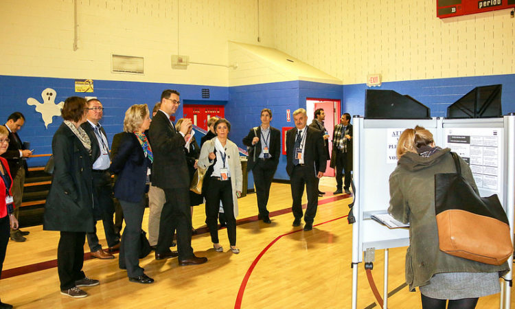 OSCE observers witness elections at a polling station in Washington, DC, November 2014. (OSCE photo)