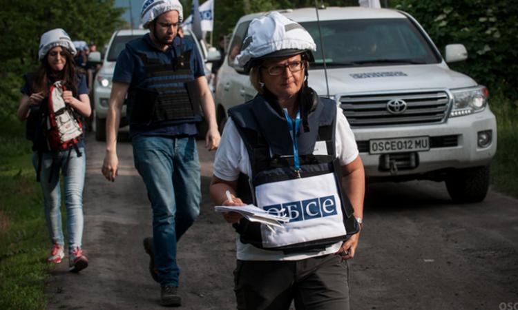 OSCE monitors in eastern Ukraine.