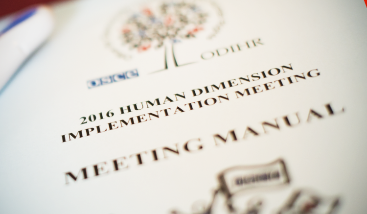 OSCE Human Dimension Implementation Meeting 2016.