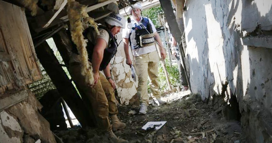 OSCE monitor in Ukraine, July, 2017. (OSCE picture)