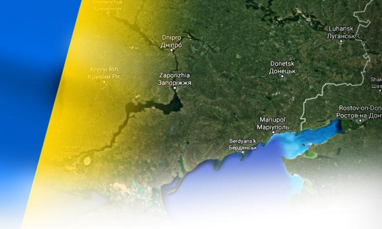 Ukraine Map and Flag