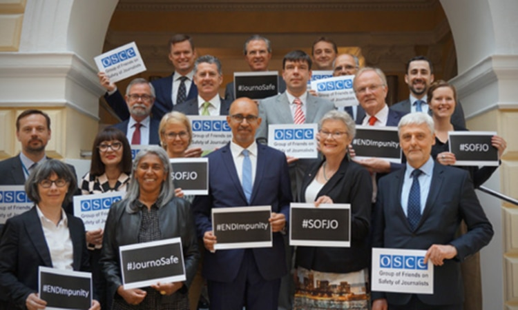 Launch of the Informal Group of Friends of Safety of Journalists with the OSCE (Photo Credit: Delegation of France to the OSCE)