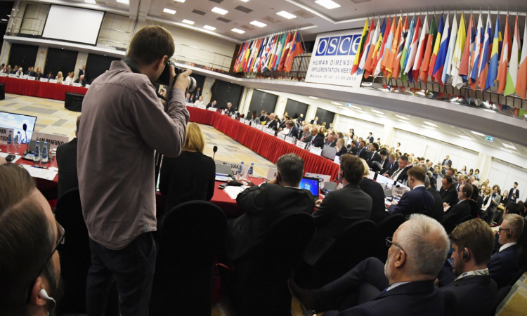 2018 OSCE Human Dimension Implementation Meeting, Warsaw, Poland. (USOSCE/Colin Peters)