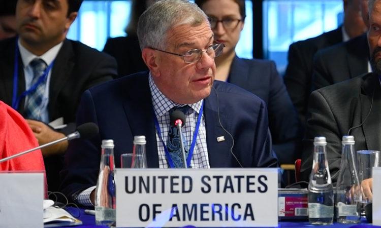 Посол Майкл Козак, глава делегации США, на сессии открытия СРВЧИ 2017 года